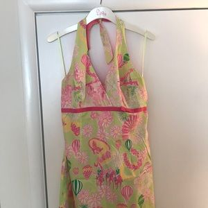 Lilly Pulitzer Vintage Horse Racing Dress Size 12